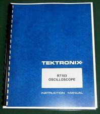 "Tektronix R7103 Instruction Manual: w/11""X17"" Foldouts & Plastic Covers"