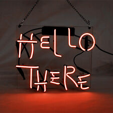 """Neon Light Neon Sign Glass Guide Decor HOME Bar Beer POSTER HELLO THERE 10""""X12"""""""