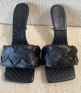 NEW  Llido Style Black Slides Stilettos Heels Sandal EU 38.5 US 8.5