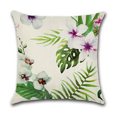 Africa Tropical Plant Print Cushion Cover Green Leaves Pillow Case Decoration 16#