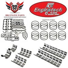 ENGINETECH CHEVY SBC 283 RE RING REBUILD KIT WITH MAIN BEARINGS 1957-1967