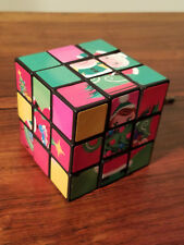 Holiday Christmas Square Three Section Brain Teaser Rubix Puzzle Cube