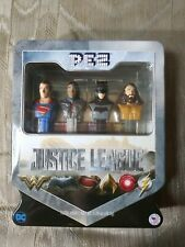 Pez Justice League Gift Set With Tin Dc Comics Batman Superman Aquaman Cyborg.