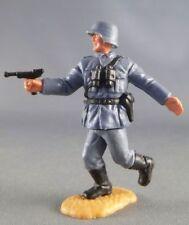 Timpo - WW2 - Allemands - 2ème série (tete & casque monobloc) - Officier (luger)