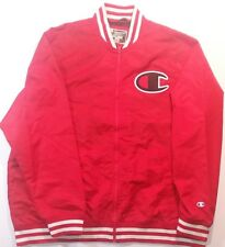 New Champion Nylon Poly Letterman Jacket Multi Red/White/Black Retro Mens Sz 3XL