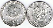 200 Zl Silbermuenze XXX R. Zwyciestwa Nad Faszyzmem 1976 14,5 gr Silber TOP