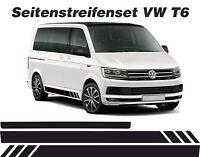 VW T6 BUS RAYAS LATERALES BLANCO SIN SCRIPT