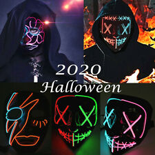 Halloween Mask LED Light Up Mask Party Festival Cosplay Costume The Mask LOT