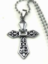 New Stainless Steel Cross   Pendant Necklace   DZ19