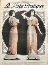 MODE PRATIQUE Dec 21,1912 + sewing patterns - Matinee, Theatre Blouse...