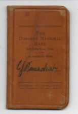 1910 Leather Bank Book The Deseret National Bank Salt Lake City Utah