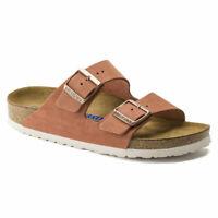 Birkenstock Arizona Soft Footbed Earth Red Suede Leather Sandal