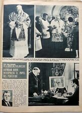 RAYMOND BURR => 1 page 1973 Spanish CLIPPING !!!
