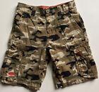 Vintage Levi's Boy's Size 6 Camouflage Cargo Shorts Adjustable Waistband
