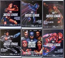 JUSTICE LEAGUE - DC COMICS BATMAN - RARE CHARACTER BUS STOP MOVIE POSTER SET
