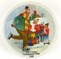 "Csatari Grandparent Series The Skating Lesson 1981 Knowles 8.5"" Collector Plate"