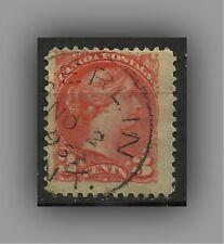 CANADA, SCOTT #37,  1870 - 3c, QUEEN VICTORIA, FINE USED (2,4 x 2,1 cm)