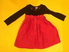 EUC YOUNGLAND Special Occasion dress - black/red satin girls size 5