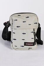 Vintage Eastpak Womens Fish Printed Crossbody Bag Adjustable Strap Beige BG857