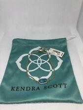 Kendra Scott Elaina Gold Bracelet With Turquoise