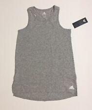 NWT Adidas Gray Racerback Tank Girls Size M (10/12)
