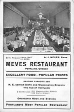 Postcard Interior of Meves Restaurant in Portland, Oregon~111459