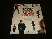 Inxs 1987 promotional ad for 'Kick', Michael Hutchence, Andrew Farriss