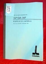 Okuma Gp/Ga-36F Cnc Cylindrical Grinder Parts Book: