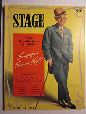 STAGE Magazine March 1938 George Cohan Cover + August 1938 Beatrice Lillie Cover