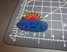 2001 Golden Days Fairbanks Alaska Collector lapel Pin 50th anniv 1952-2001