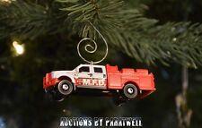 Custom Ford F-550 Super Duty Fire Pump Truck Christmas Ornament 1/64 Adorno Crew