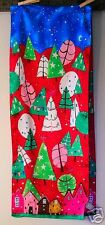 Echo Christmas Scarf~Whimsical~Holiday~Bright~Red~Multi~NWOT