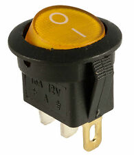 New 12V Yellow Lighted Round Rocker Toggle Switch Car Truck RV Boat ATV Home fu