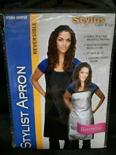 "Stylus Salon Wear Stylist Apron Reversible 27"" W x 30"" L Black Apron #5040Sb"