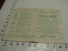 vintage travel paper--THE GREEN COACHES island tours