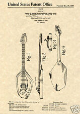 Vintage VOX PHANTOM VI 1967 Guitar Patent Art Print READY TO FRAME Jennings