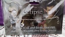 The Twilight  Saga eclipse Bella's Wolf and Heart Bracelet