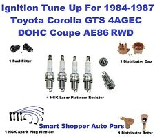 Ignition Tune Up Kit for 85-87 Corola GTS 4AGEC AE86 NGK Spark Plug Wire, OE Las