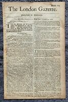 1666 London Gazette - ORIGINAL!! 354 yrs old. Complete, free express shipping