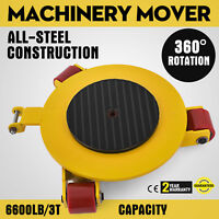 Industrial Machinery Mover 6600Lbs Capacity Machinery Mover Skates 3 Swivel