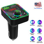 Wireless Bluetooth 5.0 Car FM Transmitter MP3 Adapter Hands-Free PD Charger Kit