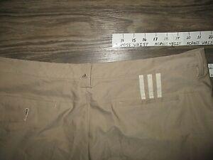 Adidas 3 Stripes Golf Shorts 40 Brown