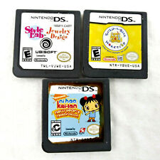 Nintendo DS Game Lot of 3 Nihao kai lan Build a Bear Workshop Style Lab Jewelry