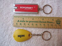 "Set Of 2 "" NOS "" Advertising Key Chain Lights "" AWESOME COLLECTIBLE USEABLE SET"