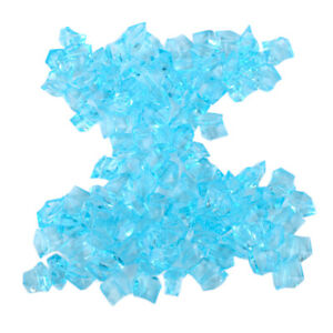 100X See Blau Acryl Steine Aquarium Eiswürfel Stones Party Eis Tischdeko ly