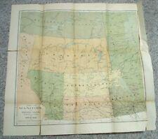 1904 Map of Manitoba and Northwest Territory. Canada