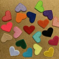5/20pc Heart Embroidered Cloth Iron On Patch Applique Craft Love Valentine #1744