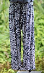ZenLife Mens Comfy Casual Bliss Pants - Black Dot print