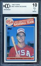 1985 Topps #401 Mark McGwire Rookie Card BGS BCCG 10 Mint+