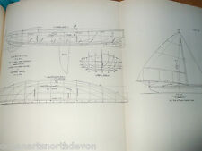 ANTIQUE PRINT C1895 DIXON KEMP YACHT & BOAT SAILING DABCHICK 20FT BOAT SAIL PLAN
